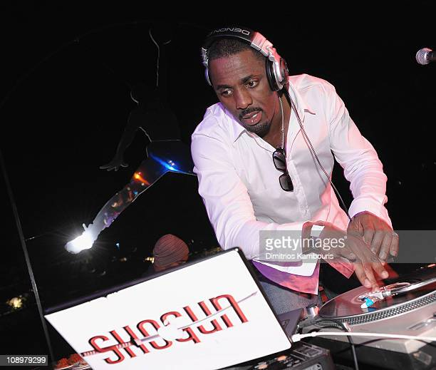 Idris Elba DJs at the 8th Annual Michael Jordan Celebrity Invitational Golf Tournament At The One Only Ocean Club in the Bahamas on January 21 2009