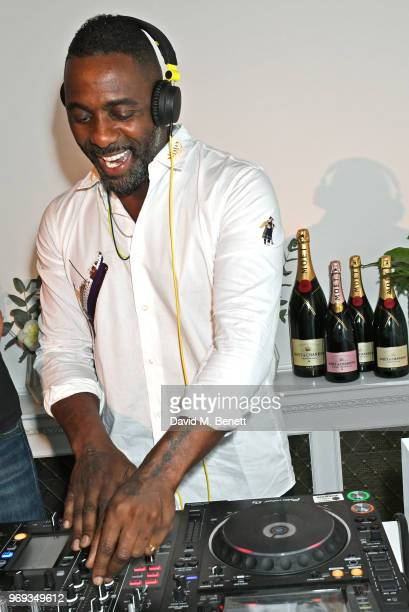 Idris Elba DJ's at the Moet Summer House VIP launch night on June 7 2018 in London England