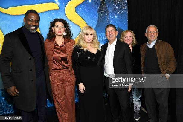Idris Elba, Donna Langley, Rebel Wilson, Jeff Shell, Debra Hayward and Ron Meyer attend The World Premiere of Cats, presented by Universal Pictures...