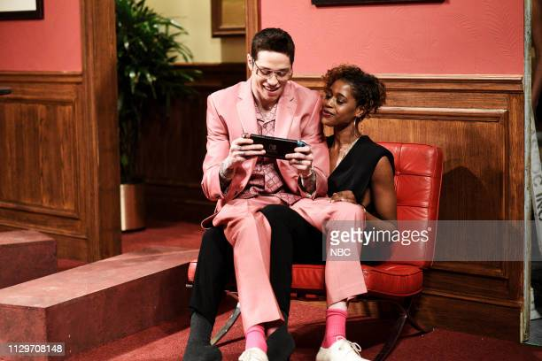 LIVE Idris Elba Episode 1761 Pictured Pete Davidson as Maxwell during the Gold Diggers sketch on Saturday March 9 2019