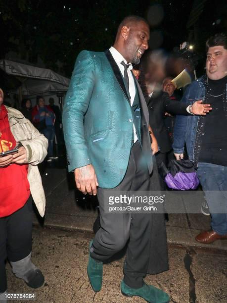 Idris Elba is seen on January 07 2019 in Los Angeles California