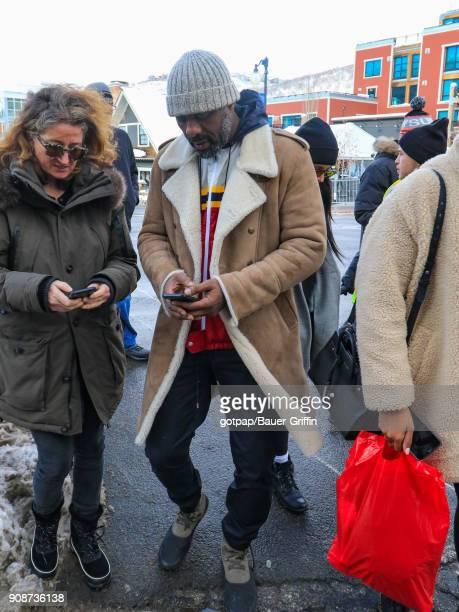 Idris Elba is seen on January 21 2018 in Park City Utah