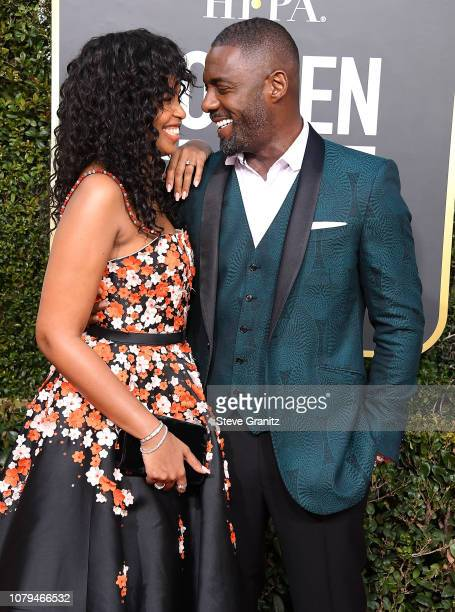 Idris Elba Isan Elba Sabrina Dhowre arrives at the 76th Annual Golden Globe Awardsat The Beverly Hilton Hotel on January 6 2019 in Beverly Hills...