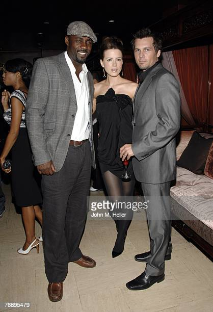Idris Elba Kate Beckinsale and Len Wiseman attend Columbus Short's Birthday Party at Crustacean on September 19 2007 in Beverly Hills California