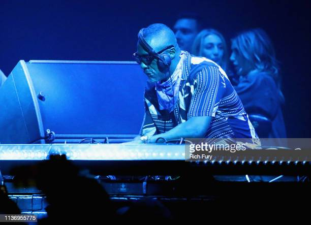Idris Elba performs at Yuma Tent during the 2019 Coachella Valley Music And Arts Festival on April 13 2019 in Indio California