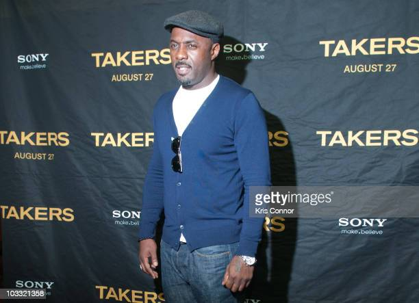 Idris Elba poses for photographers during a screening of Takers at the AMC Georgetown on August 9 2010 in Washington DC