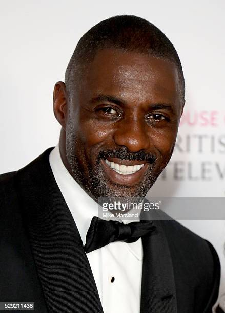 Idris Elba poses in the winners room at the House Of Fraser British Academy Television Awards 2016 at the Royal Festival Hall on May 8, 2016 in...