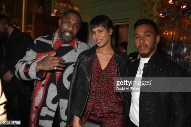Idris Elba Sabrina Dhowre and Lewis Hamilton attend as Tiffany Co partners with British Vogue Edward Enninful Steve McQueen Kate Moss and Naomi...