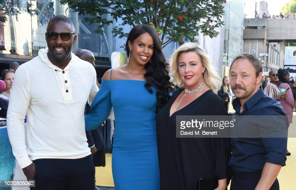 Idris Elba Sabrina Dhowre Hannah Walters and Stephen Graham attend the UK Premiere of Yardie at BFI Southbank on August 21 2018 in London England