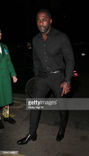 Idris Elba seen attending Annabel's For The Amazon, a fundraising event at Annabel's to plant one million trees in the Amazon rainforest, in...