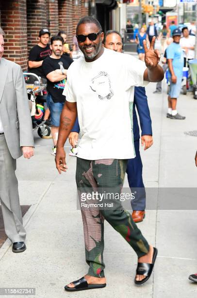 "Idris Elba seen outside ""The Late Show with Stephen Colbert"" on July 29, 2019 in New York City."