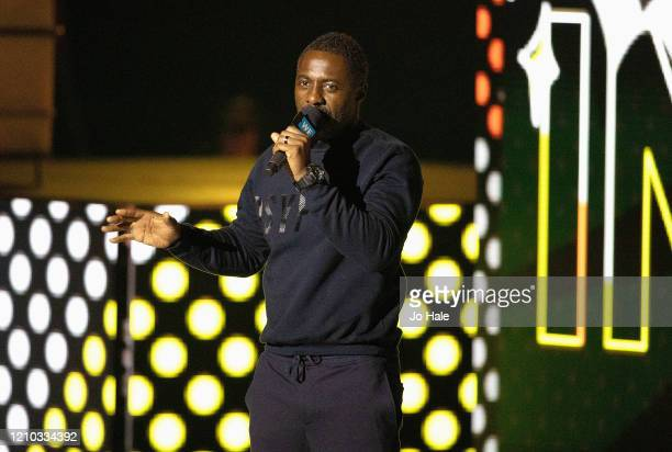 Idris Elba speaks on stage at WE Day UK 2020 at The SSE Arena, Wembley on March 04, 2020 in London, England.