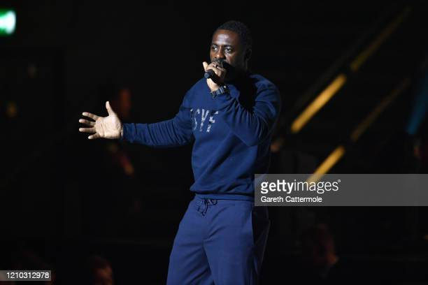 Idris Elba speaks on stage during WE Day UK 2020 at The SSE Arena, Wembley on March 04, 2020 in London, England.