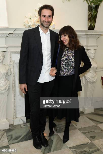 Idris Khan and Annie Morris attend the Clos19 Launch Dinner #Clos19Moments on May 8 2017 in London England