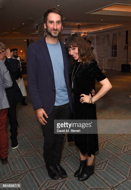 Idris Khan and Annie Morris attend the Fortnum's x Frank private viewing at Fortnum Mason on September 27 2017 in London England