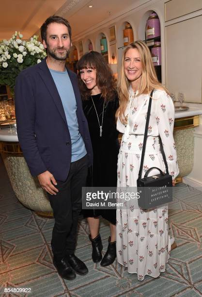 Idris Khan Annie Morris and Georgina Cohen attend the Fortnum's x Frank private viewing at Fortnum Mason on September 27 2017 in London England