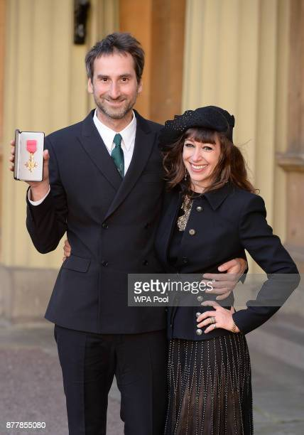 Idris Khan with wife Annie Morris after receiving his OBE from the Prince of Wales at an Investiture ceremony at Buckingham Palace on November 23...