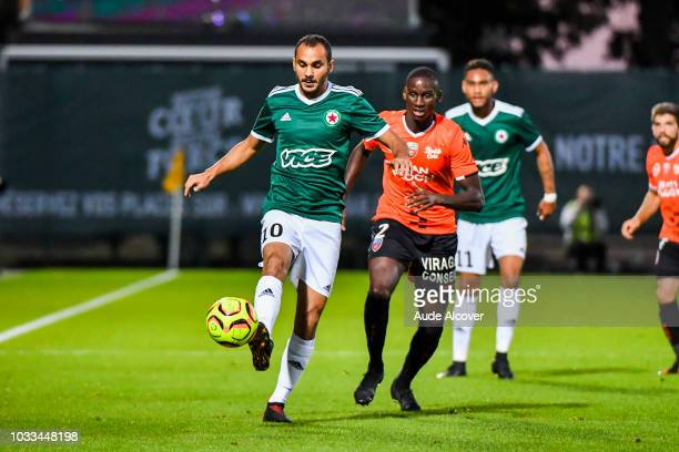 Idriss Mhirsi of Red Star during the French Ligue 2 match between Red star and Lorient at Stade Pierre Brisson on September 14 2018 in Beauvais France