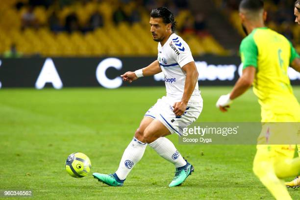 Idriss Saadi of Racing Club de Strasbourg Alsace during the Ligue 1 match between Nantes and Strasbourg at Stade de la Beaujoire on May 19 2018 in...