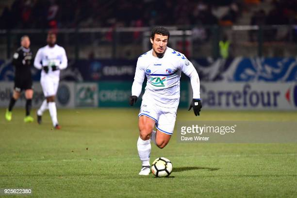 Idriss Saadi of Strasbourg during the French Cup match between Chambly and Strasbourg at Stade Pierre Brisson on February 28 2018 in Beauvais France