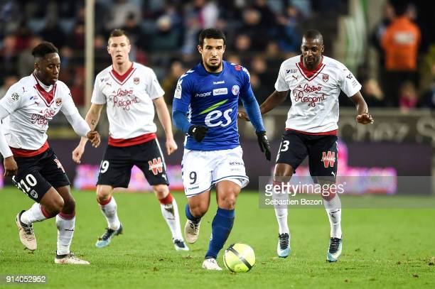 Idriss Saadi of Strasbourg during the Ligue 1 match between Strasbourg and Bordeaux at on February 3 2018 in Strasbourg