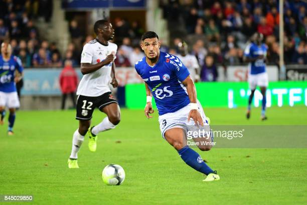 Idriss Saadi of Strasbourg during the Ligue 1 match between Strasbourg and Amiens SC at on September 9 2017 in Strasbourg France