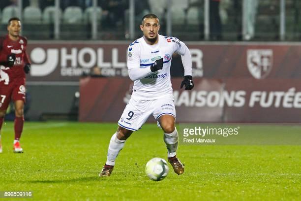 Idriss Saadi of Strasbourg during the Ligue 1 match between Metz and Strasbourg at on December 20 2017 in Metz