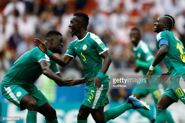 Idrissa Gana Gueye during the 2018 FIFA World Cup Russia group H match between Poland and Senegal at Spartak Stadium on June 19 2018 in Moscow Russia