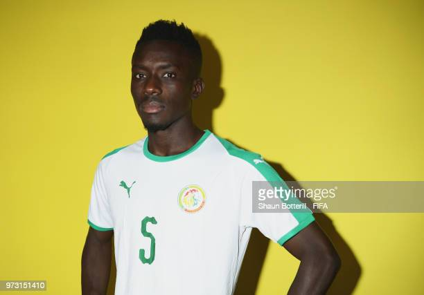 Idrissa Gana Gueye of Senegal poses for a portrait during the official FIFA World Cup 2018 portrait session at the team hotel on June 13 2018 in...