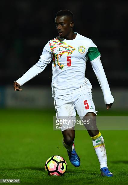 Idrissa Gana Gueye of Senegal takes the ball forward during the International Friendly match between Nigeria and Senegal at The Hive on March 23 2017...