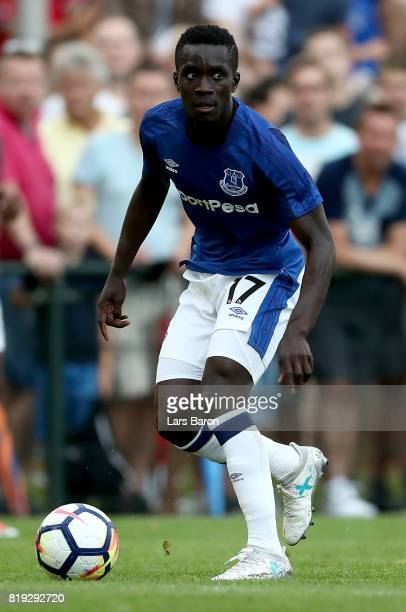Idrissa Gana of Everton runs with the ball during a preseason friendly match between FC Twente and Everton FC at Sportpark de Stockakker on July 19...