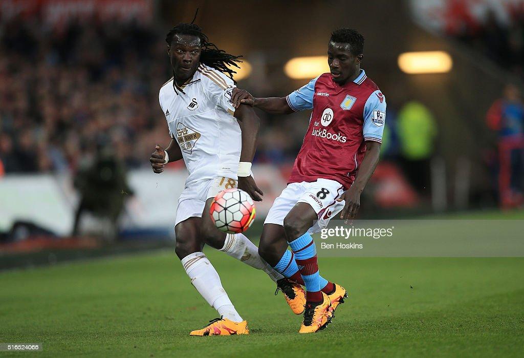 Swansea City v Aston Villa - Premier League : News Photo
