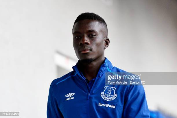 Idrissa Gueye of Everton arrives for the UEFA Europa League Qualifier match between MFK Ruzomberok and Everton on August 3 2017 in Ruzomberok Slovakia