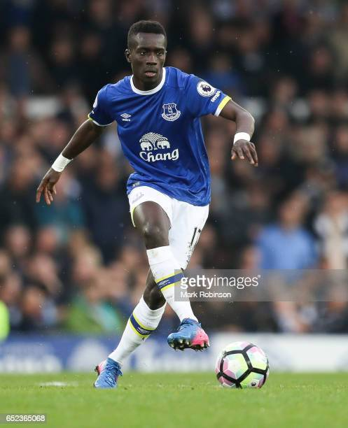 Idrissa Gueye of Everton during the Premier League match between Everton and West Bromwich Albion at Goodison Park on March 11 2017 in Liverpool...