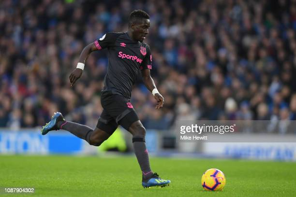Idrissa Gueye of Everton in action during the Premier League match between Brighton Hove Albion and Everton FC at American Express Community Stadium...