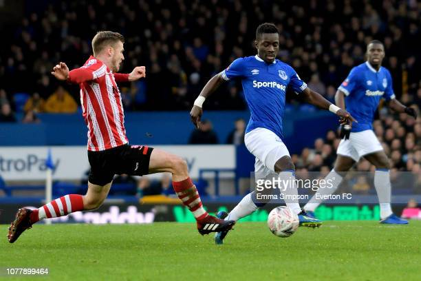 Idrissa Gueye of Everton on the ball during the Emirates FA Cup Third Round match between Everton and Lincoln City at Goodison Park on January 5,...