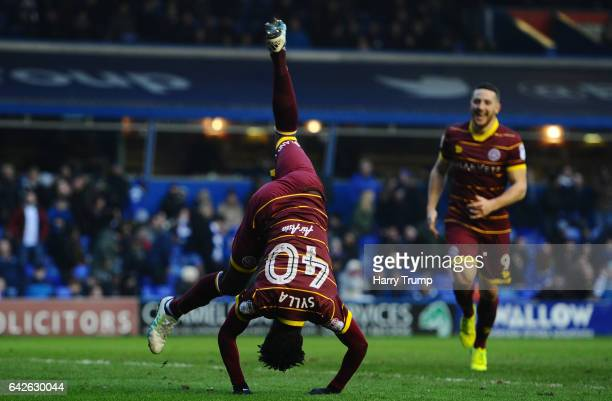 Idrissa Sylla of QPR celebrates scoring his side's third goal during the Sky Bet Championship match between Birmingham City and Queens Park Rangers...