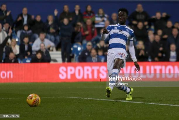 Idrissa Sylla of Queens Park Rangers scores his sides first goal during the Sky Bet Championship match between Queens Park Rangers and Sheffield...