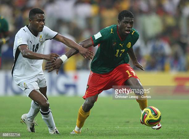 Idrissou of Cameroon during the CAF African Cup of Nations Semi Final between Ghana and Cameroon played in Accra Ghana Cameroon went on to win 10 and...