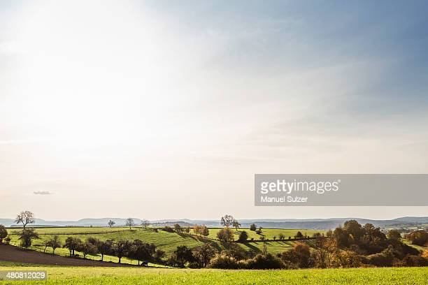 Idyllic agricultural landscape in autumn
