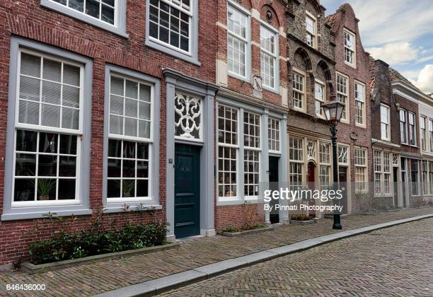 Idyllic and historical street in Dordrecht
