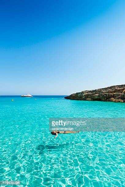 idyllic and relaxing holidays - balearic islands stock pictures, royalty-free photos & images