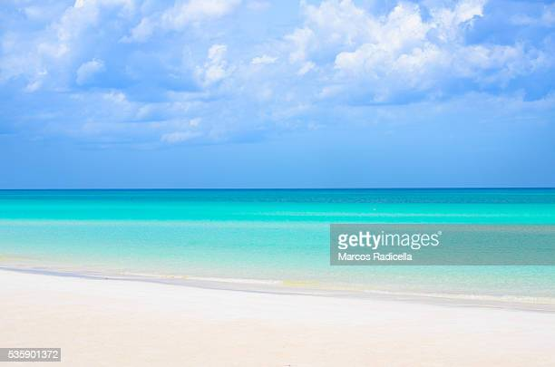 idyllic beach, cayo coco, cuba. - radicella stock photos and pictures