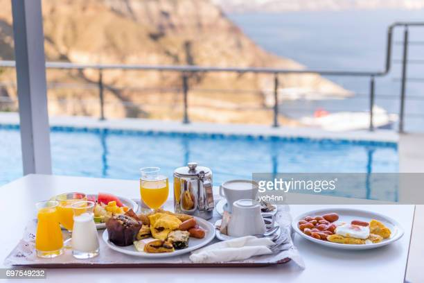 idyllic breakfast - hotel breakfast stock pictures, royalty-free photos & images