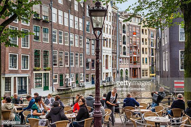 Idyllic Cafe with Gracht canal view