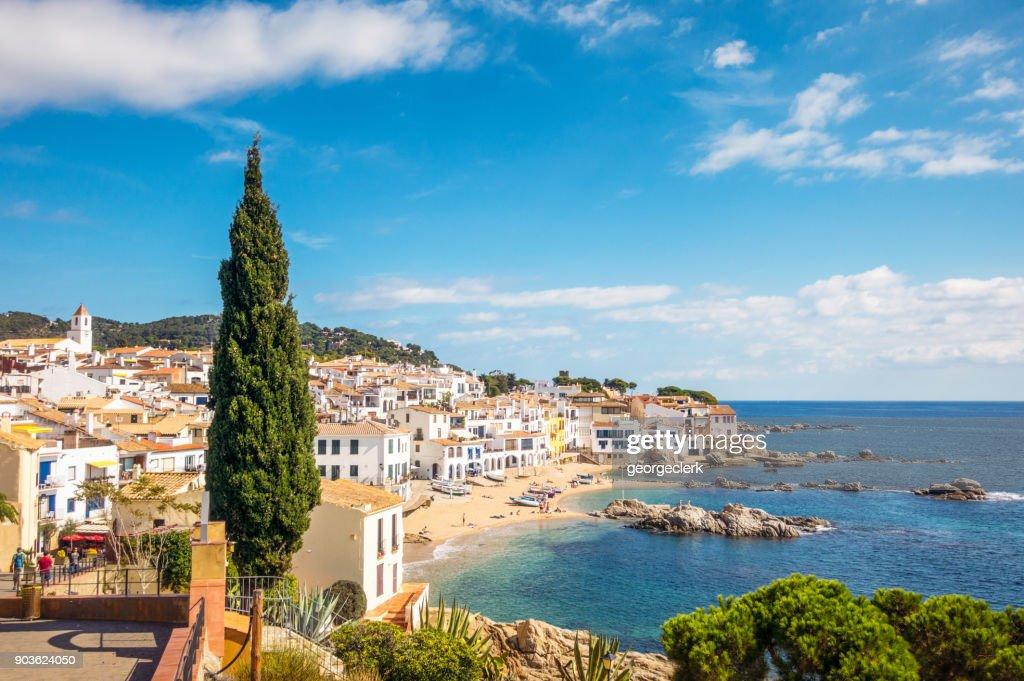 Idyllic Costa Brava seaside town in Girona Province, Catalonia : Stock Photo