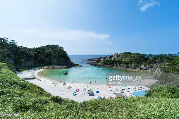 Idyllic cove beach, Shikine Island, Tokyo