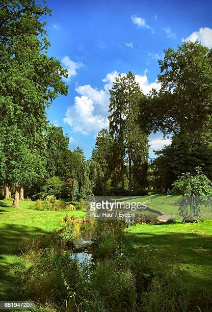 Idyllic German Park In Summer