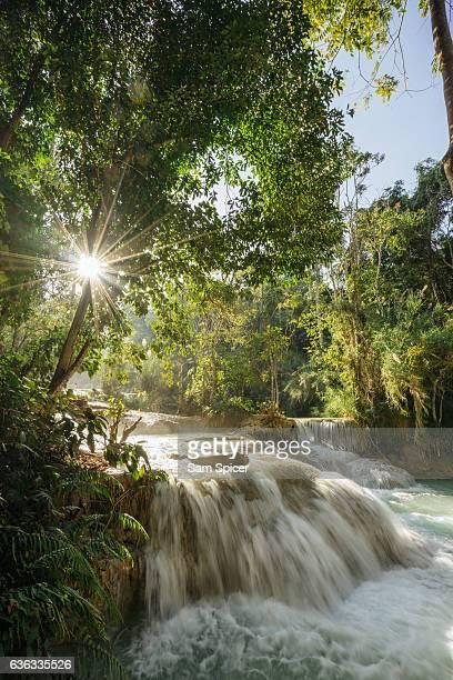 Idyllic Kuang Si Waterfall in Luang Prabang, Laos