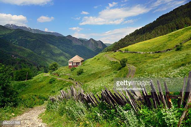 Idyllic landscape from Svaneti, Caucasus mountain